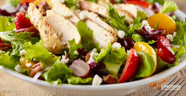 Chicken Strawberry Pecan Salad