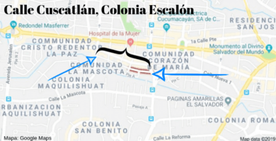 calle cuscatlan colonia escalon